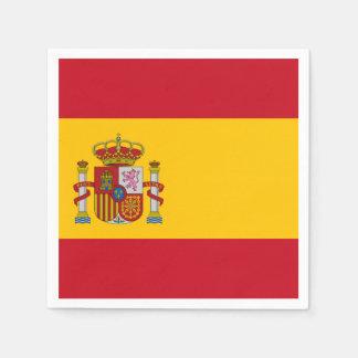 Spanish flag paper napkin