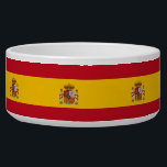 """Spanish Flag Pet Bowl<br><div class=""""desc"""">Awesome Pet Bowl with Flag of Spain. This product its customizable.</div>"""