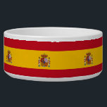 "Spanish Flag Pet Bowl<br><div class=""desc"">Awesome Pet Bowl with Flag of Spain. This product its customizable.</div>"