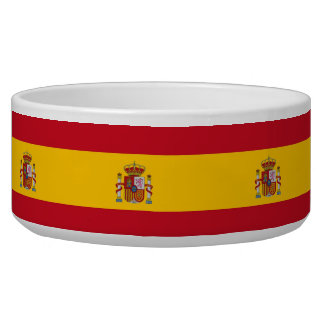 Spanish Flag Pet Bowl