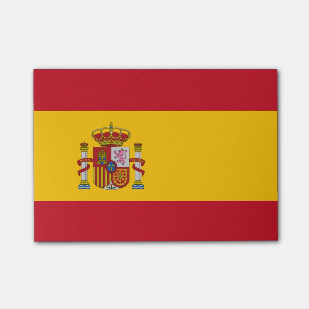 Spanish flag post-it® notes