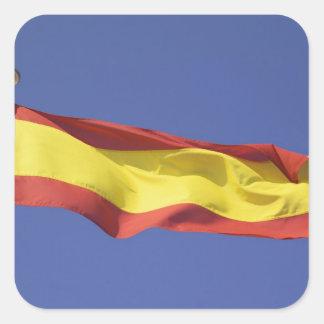 Spanish Flag RF) Square Sticker