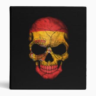 Spanish Flag Skull on Black Binders