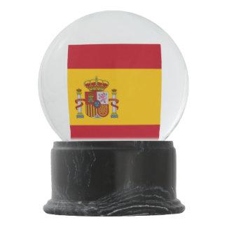 Spanish flag snow globe