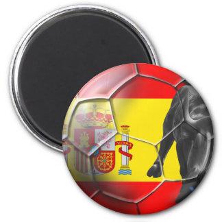 Spanish flag soccer ball Spain soccer gifts Magnet