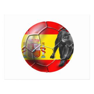 Spanish flag soccer ball Spain soccer gifts Postcards