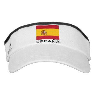 Spanish flag sports sun visor cap hat