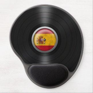 Spanish Flag Vinyl Record Album Graphic Gel Mouse Pad