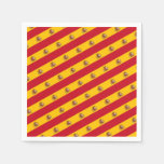 Spanish flag with red heart - fashion/sports fans napkins