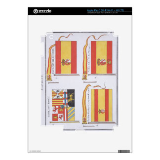Spanish Flags, from a French book of Flags, c.1819 iPad 3 Decals