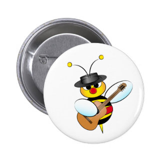 Spanish Flamenco bee Button
