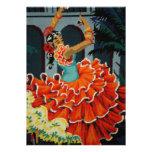 Spanish Flamenco Dancer Invitation