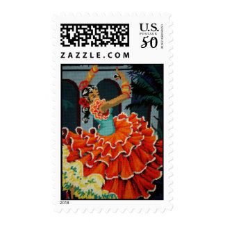 Spanish Flamenco Dancer Postage
