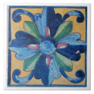 Spanish Flower Design Tile