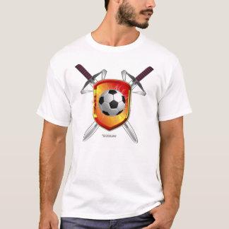 Spanish Football Shield Men's Melange Ringer T T-Shirt