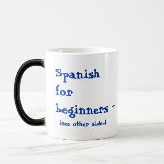 Spanish for beginners magic mug