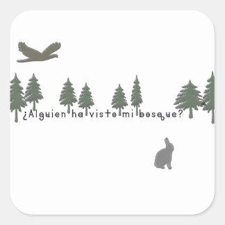 Spanish-Forest Square Sticker