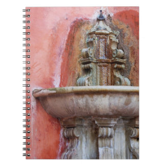 Spanish fountain notebook
