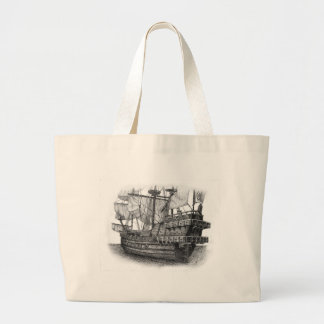 Spanish Galleon Canvas Bags