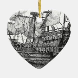 Spanish Galleon Ceramic Ornament