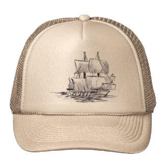 Spanish Galleon Ship Art Hat