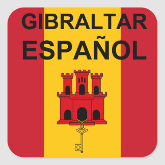 Spanish Gibraltar 6 Square Sticker