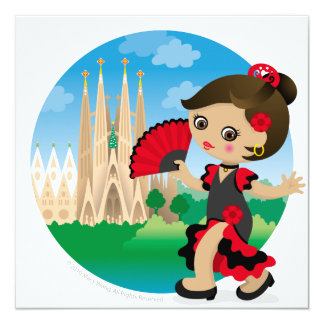Spanish girl card