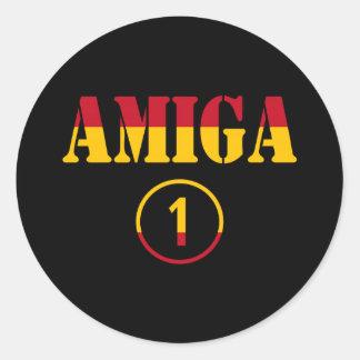 Spanish Girl Friends : Amiga Numero Uno Classic Round Sticker