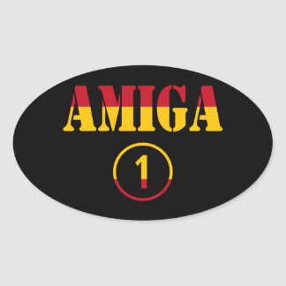Spanish Girl Friends : Amiga Numero Uno Oval Sticker