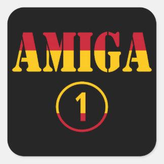 Spanish Girl Friends : Amiga Numero Uno Square Sticker