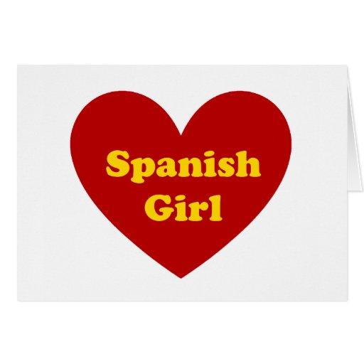 Spanish Girl Greeting Card