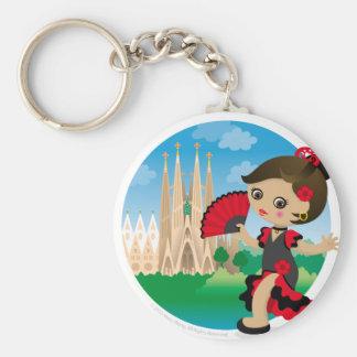 Spanish girl key chain