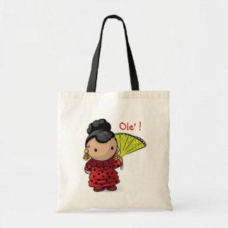 Spanish Girl Tote Bag