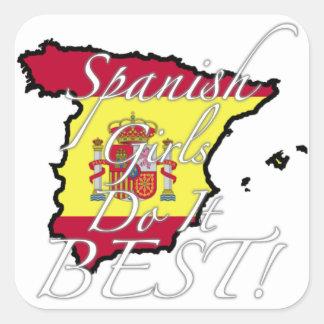 Spanish Girls Do It Best! Square Sticker