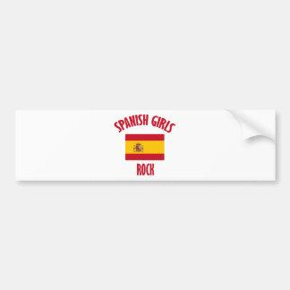 Spanish girls rock DESIGNS Bumper Sticker