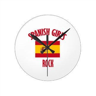 Spanish girls rock DESIGNS Round Clock