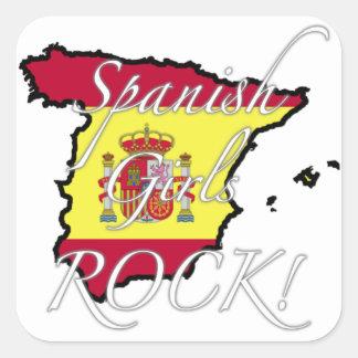 Spanish Girls Rock! Square Sticker