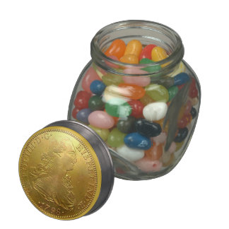 Spanish Gold Doubloon Candy Jar Glass Jars