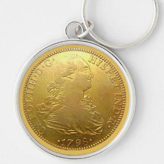 Spanish Gold Doubloon Image Premium Keychain