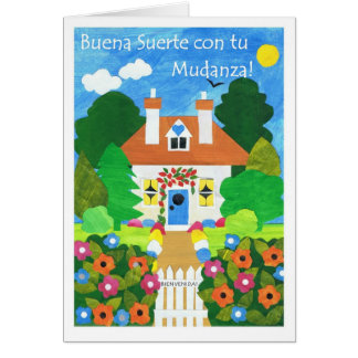 Spanish Good Luck with Your Move Greeting Card