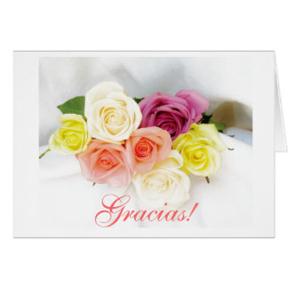 Spanish: gracias -Thank you roses Card