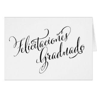 Spanish Grad Card | Felicitaciones Graduado