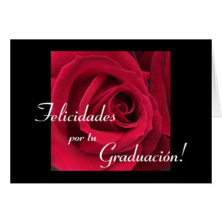 Spanish:Graduacion / Graduation flower Card