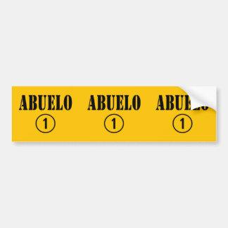 Spanish Grandfathers : Abuelo Numero Uno Car Bumper Sticker