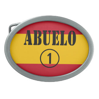 Spanish Grandfathers : Abuelo Numero Uno Oval Belt Buckle