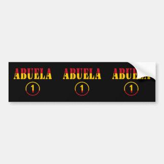 Spanish Grandmothers : Abuela Numero Uno Car Bumper Sticker