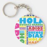Spanish Greetings Basic Round Button Keychain