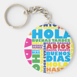 Spanish Greetings Keychain