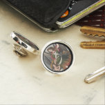 Spanish Guardian Angel and Child Lapel Pin