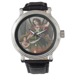 Spanish Guardian Angel and Child Wristwatch
